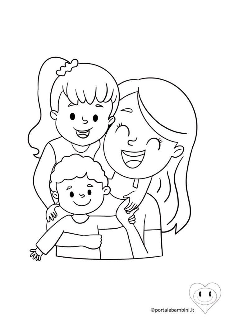 disegni per la festa della mamma da colorare 1