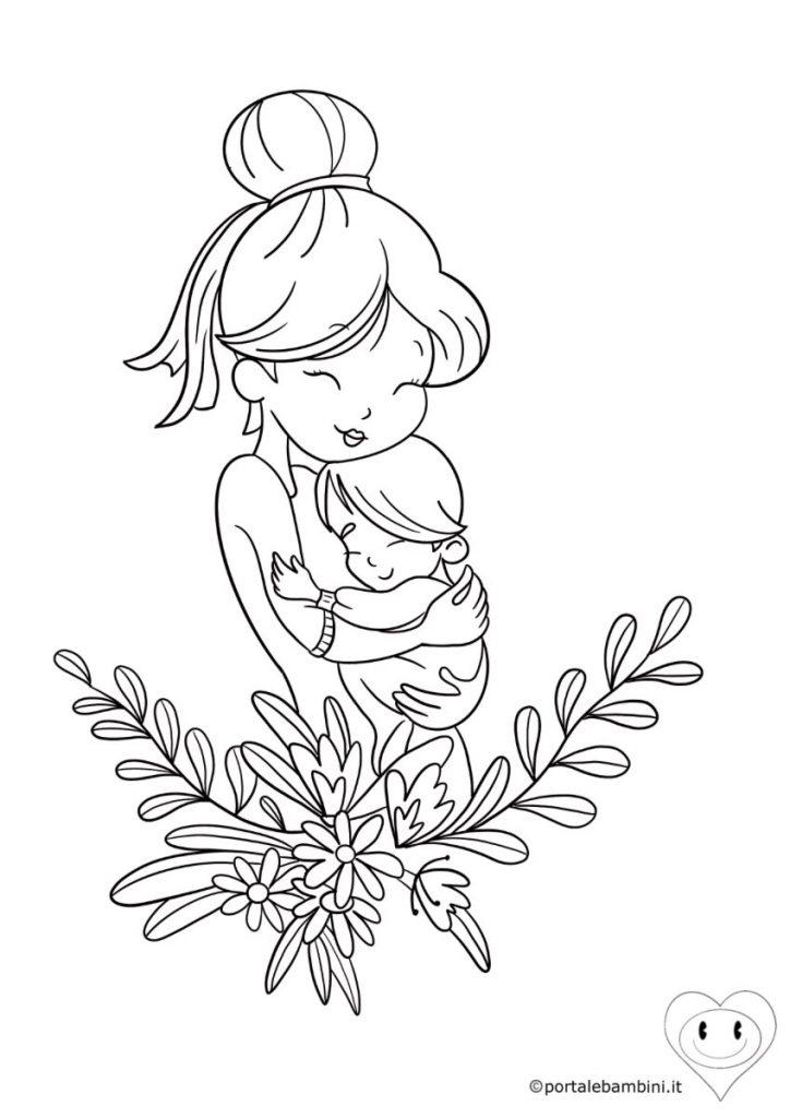 disegni per la festa della mamma da colorare 6