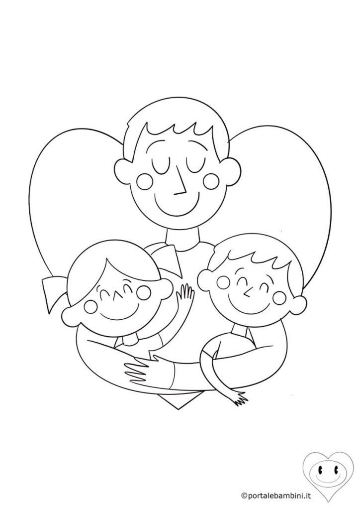 disegni per la festa del papà da colorare 1