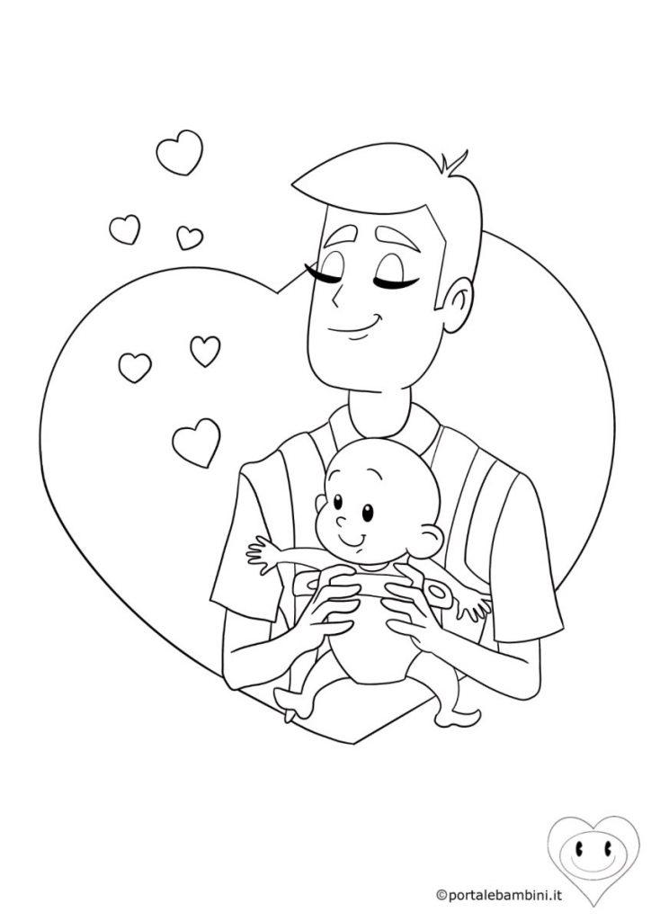 disegni per la festa del papà da colorare 5