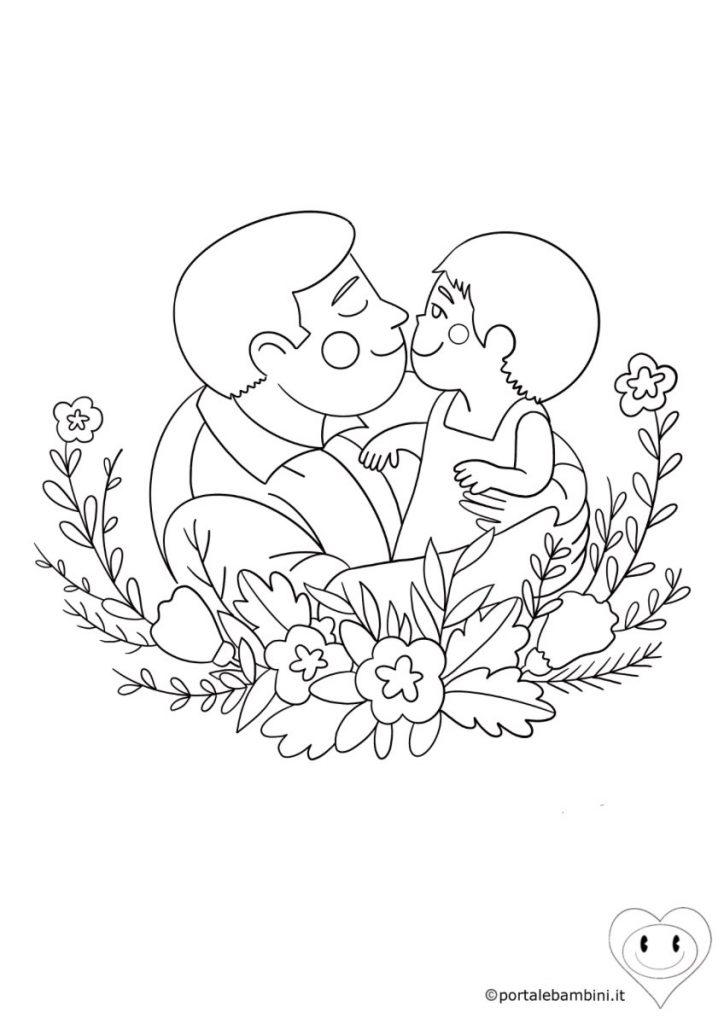disegni per la festa del papà da colorare 6