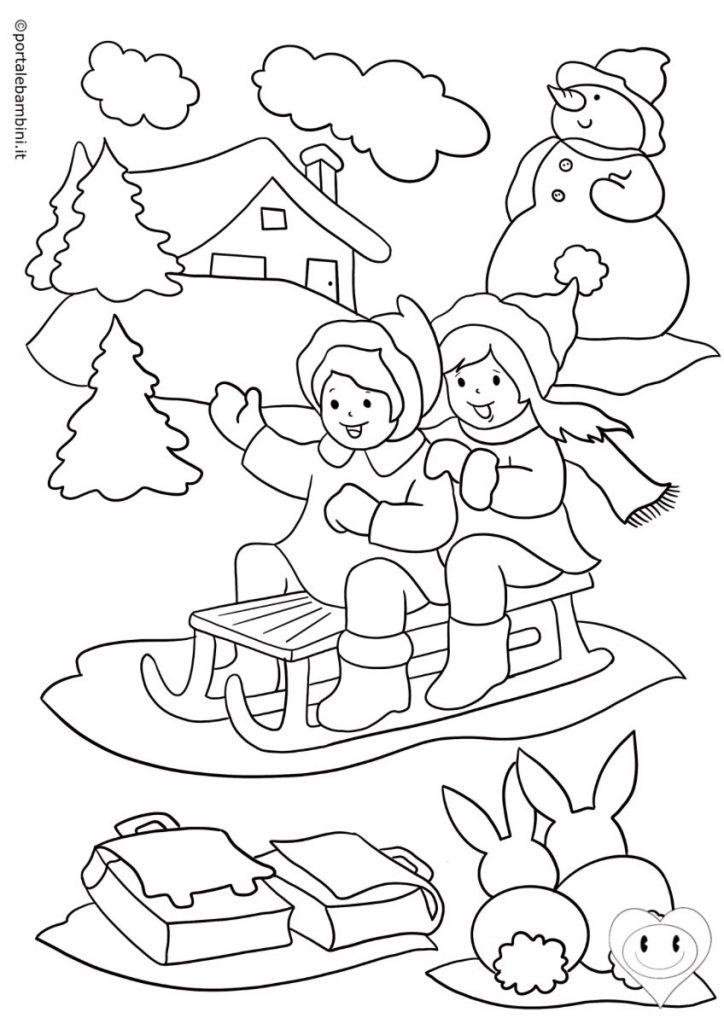 disegni inverno da colorare 1