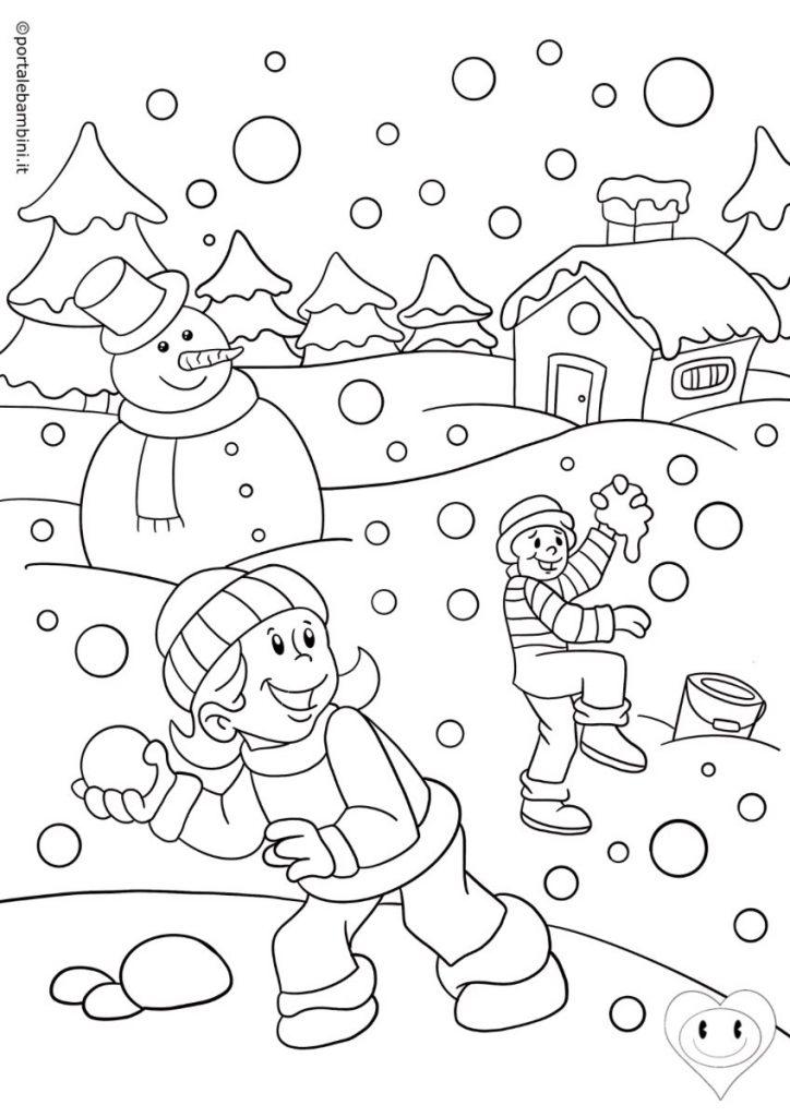 disegni inverno da colorare 2