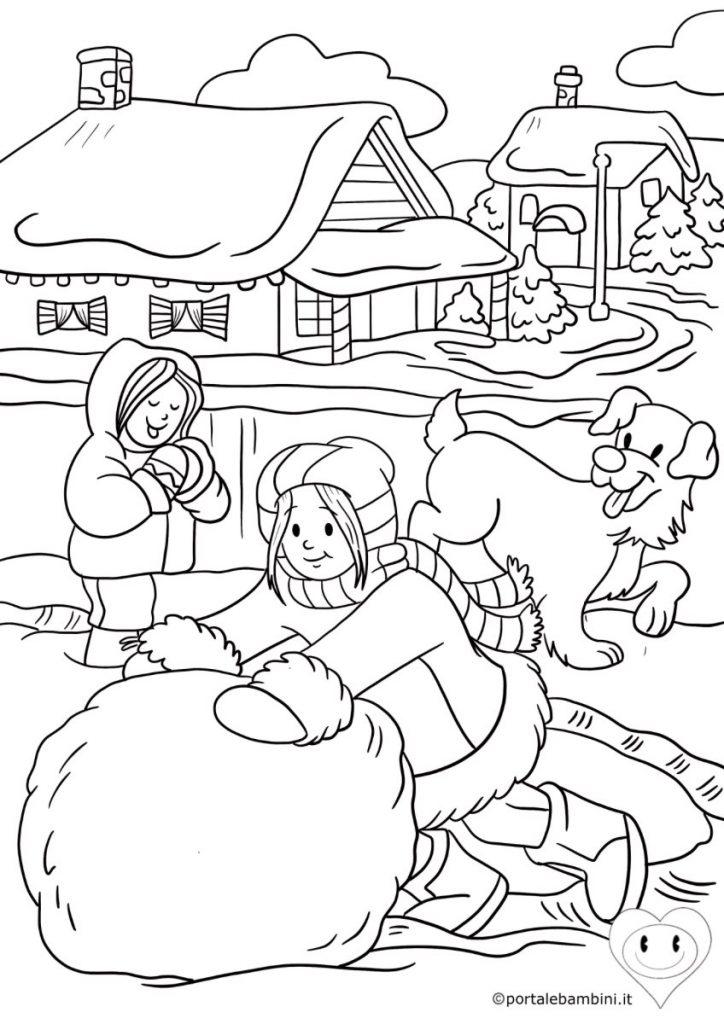 disegni inverno da colorare 3