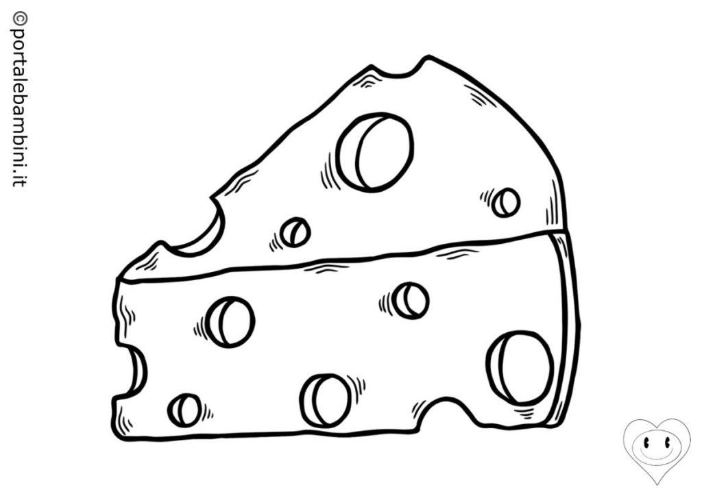 formaggio da colorare 1