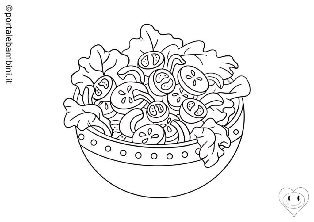 insalata da colorare 1