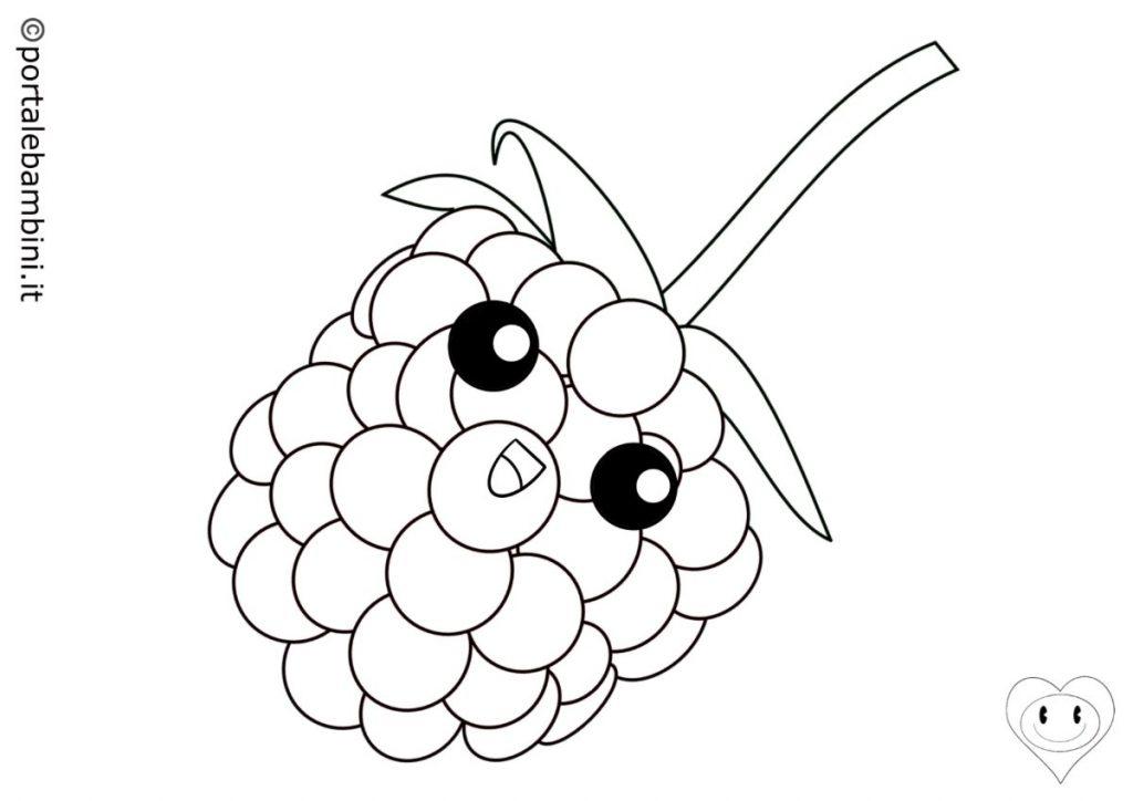 frutta da colorare lampone