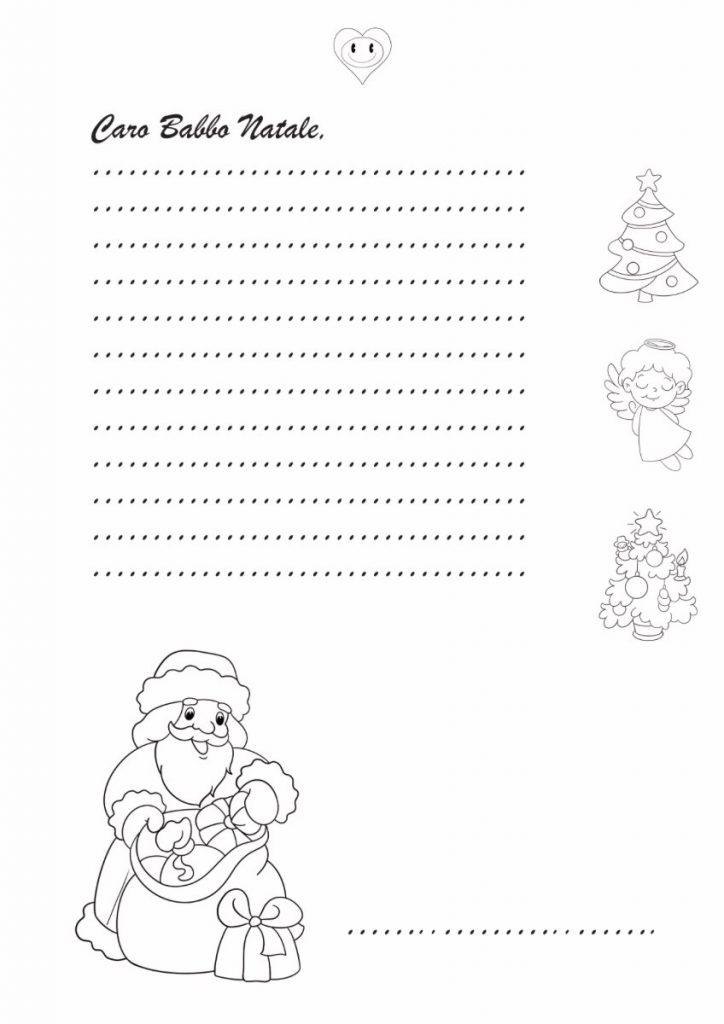 Letterina a Babbo Natale da stampare e colorare 1