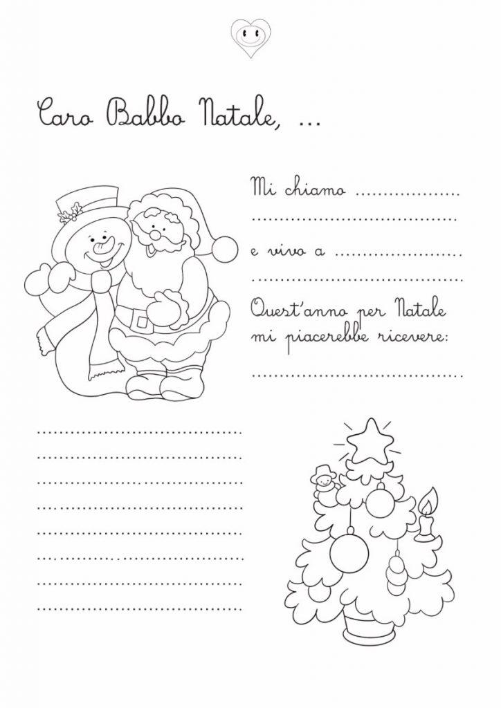 Letterina a Babbo Natale da stampare e colorare 2