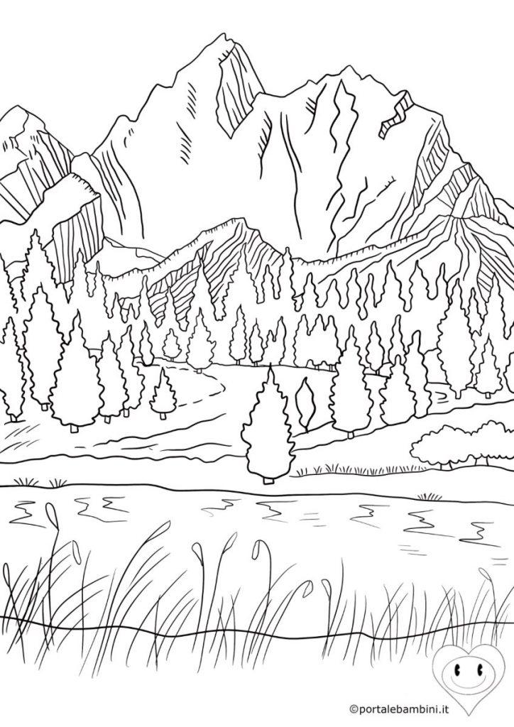 montagne da colorare 3