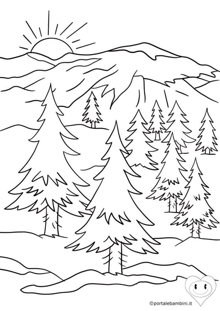 montagne da colorare 2