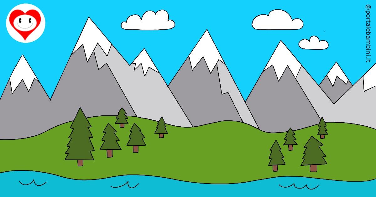 montagne da colorare