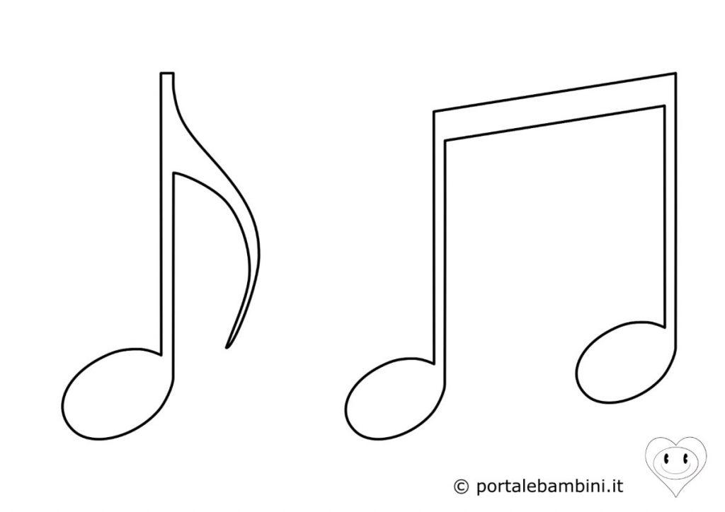 strumenti musicali da colorare note