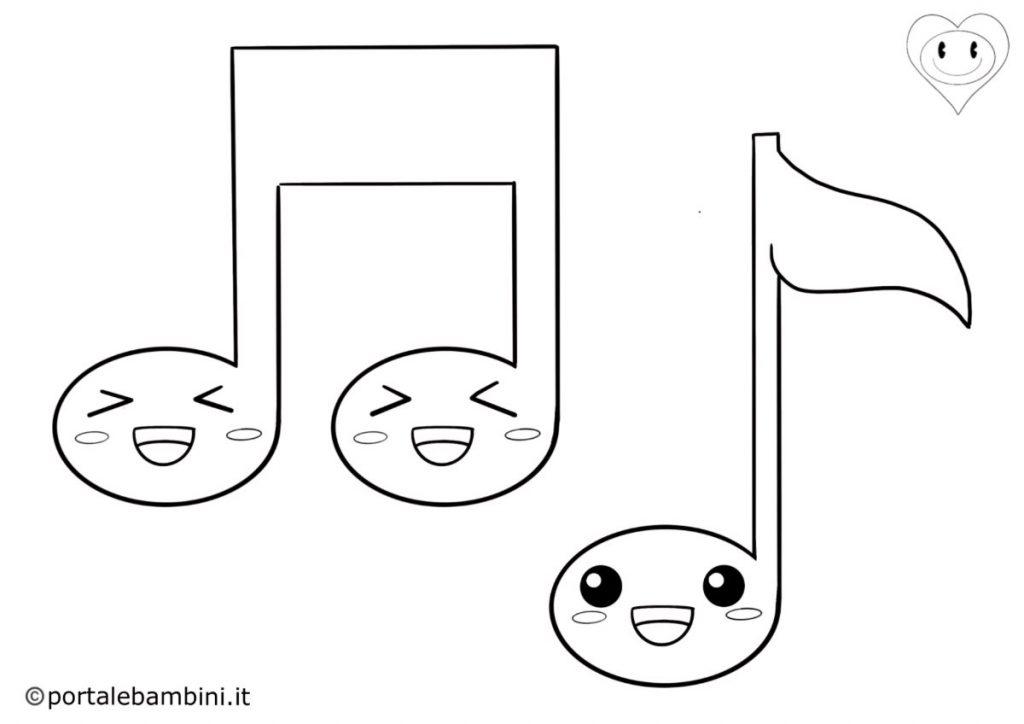 note musicali da colorare 3