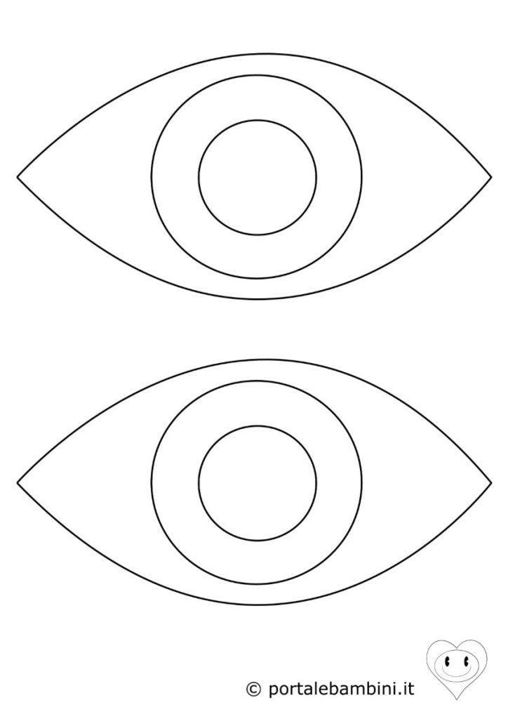occhio da colorare 1