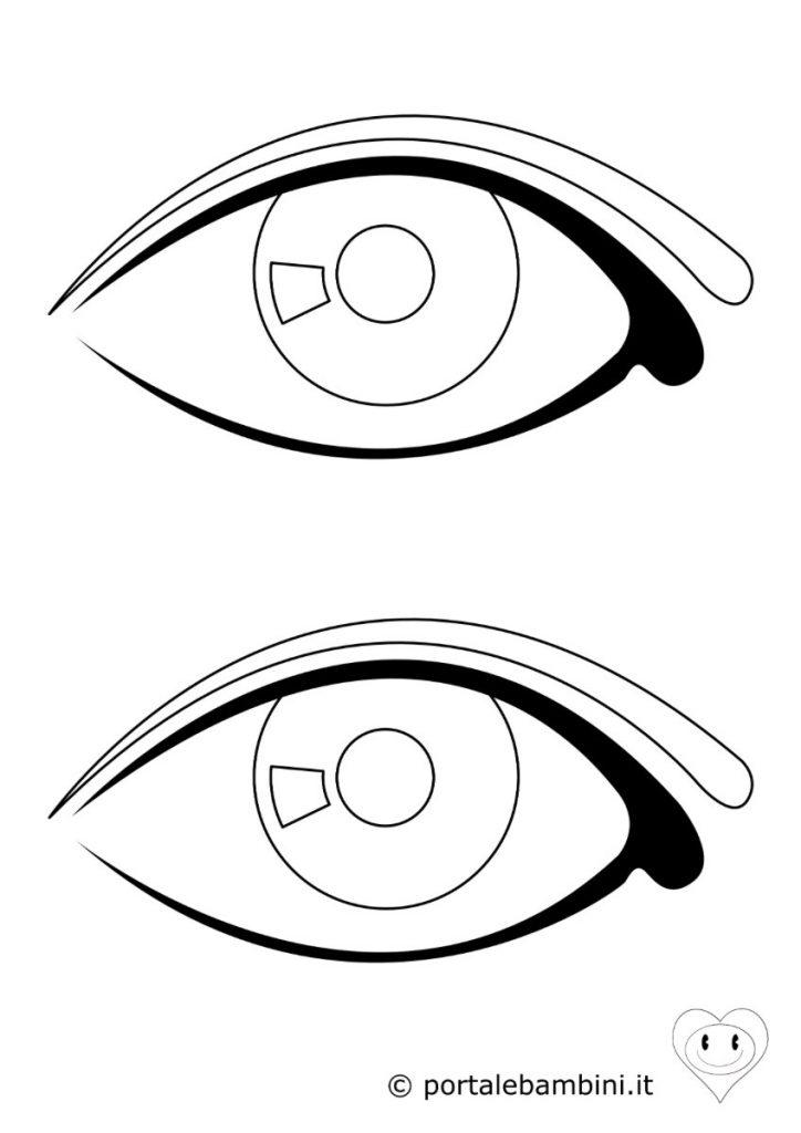 occhio da colorare 2
