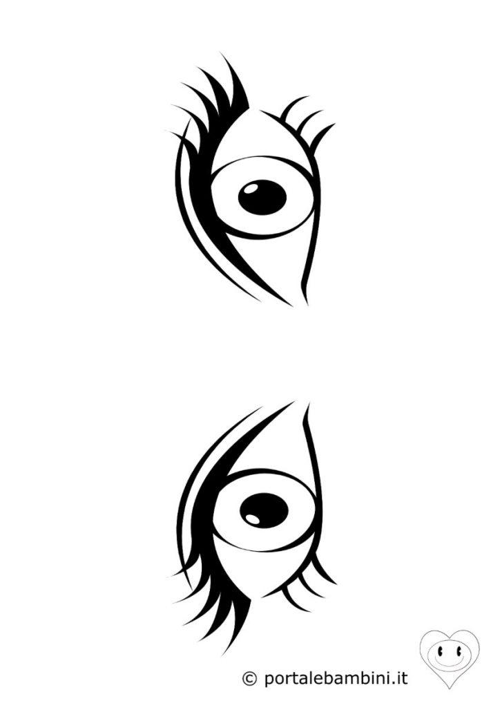 occhi da colorare 1