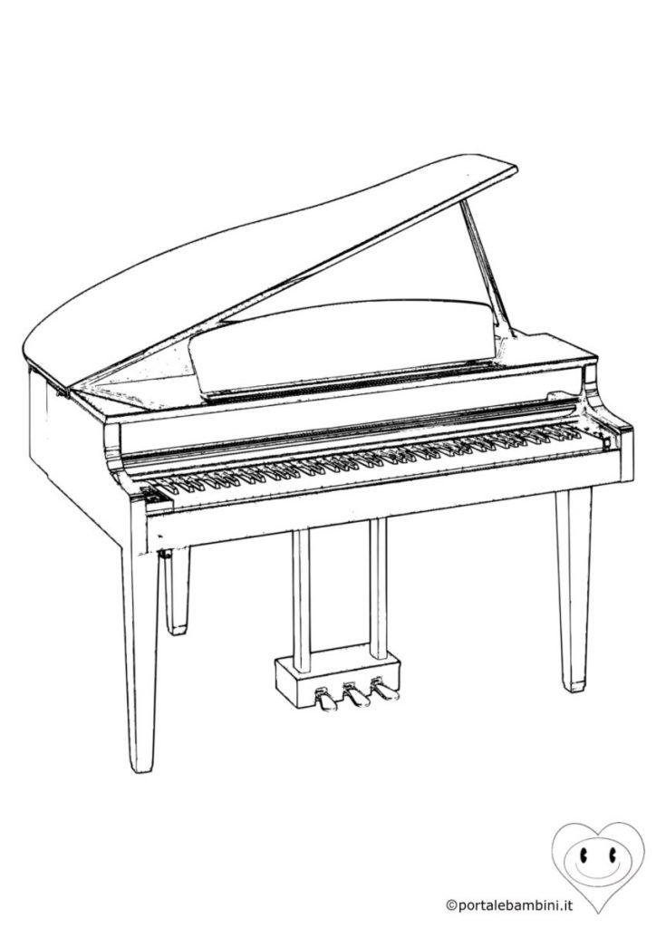 pianoforte da colorare 2