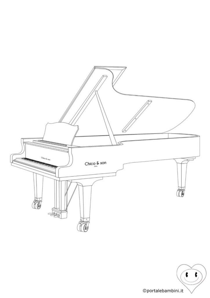 pianoforte da colorare 3