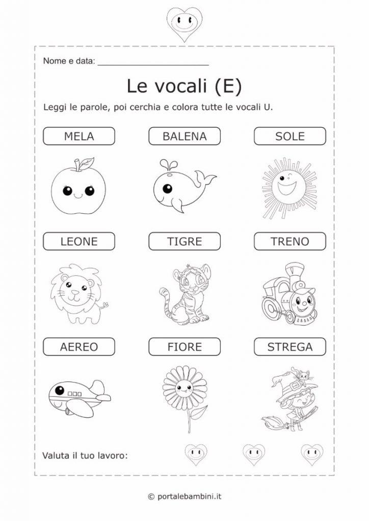 schede didattiche sulle vocali 2