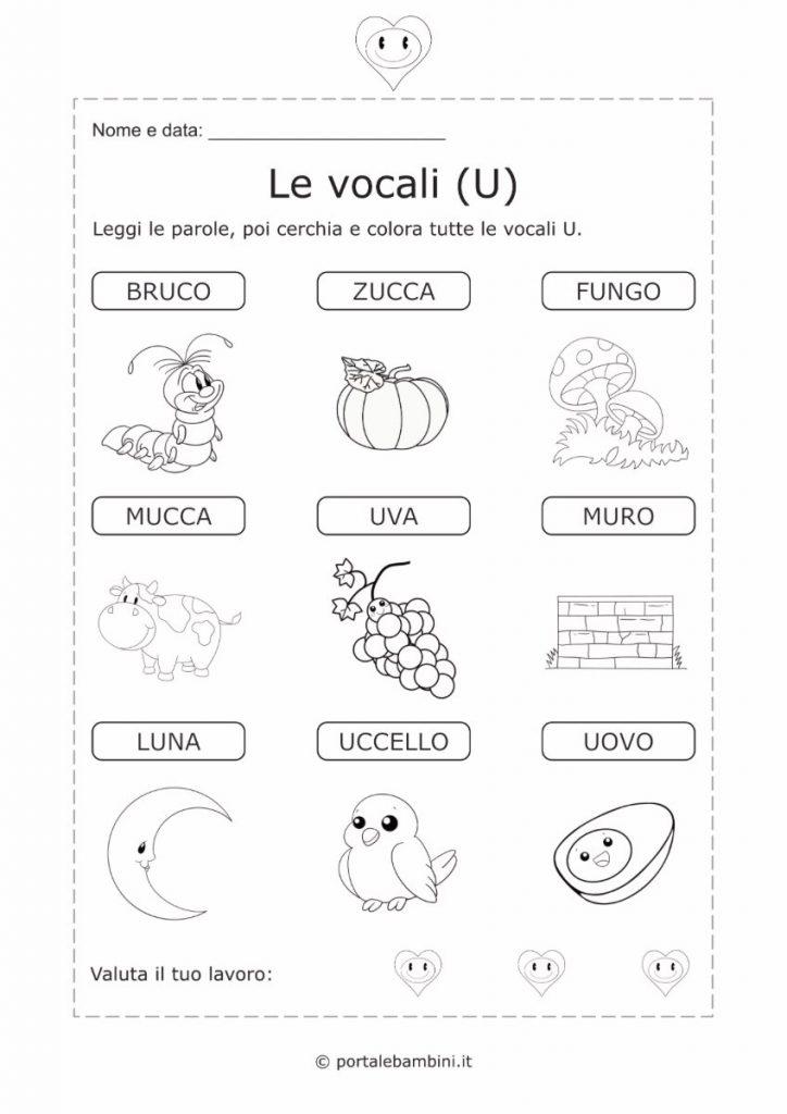 schede didattiche sulle vocali 5