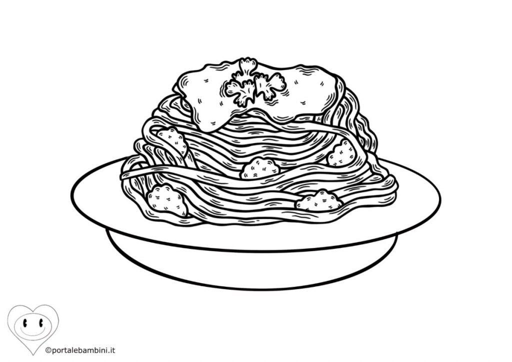 spaghetti da colorare 1