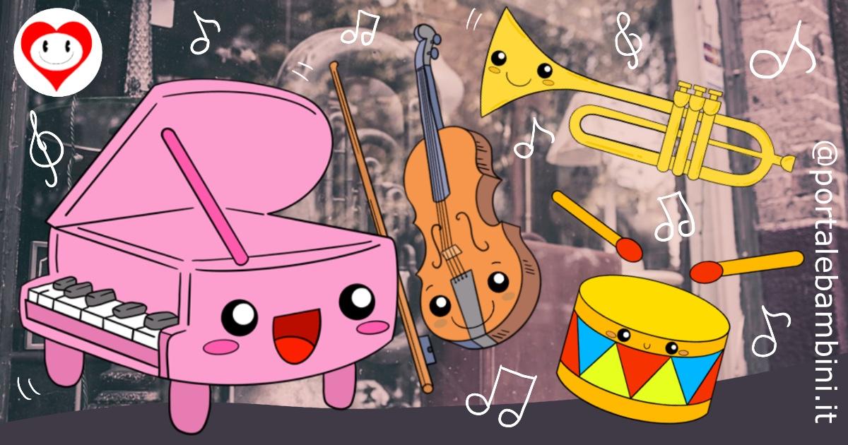 strumenti musicali da colorare