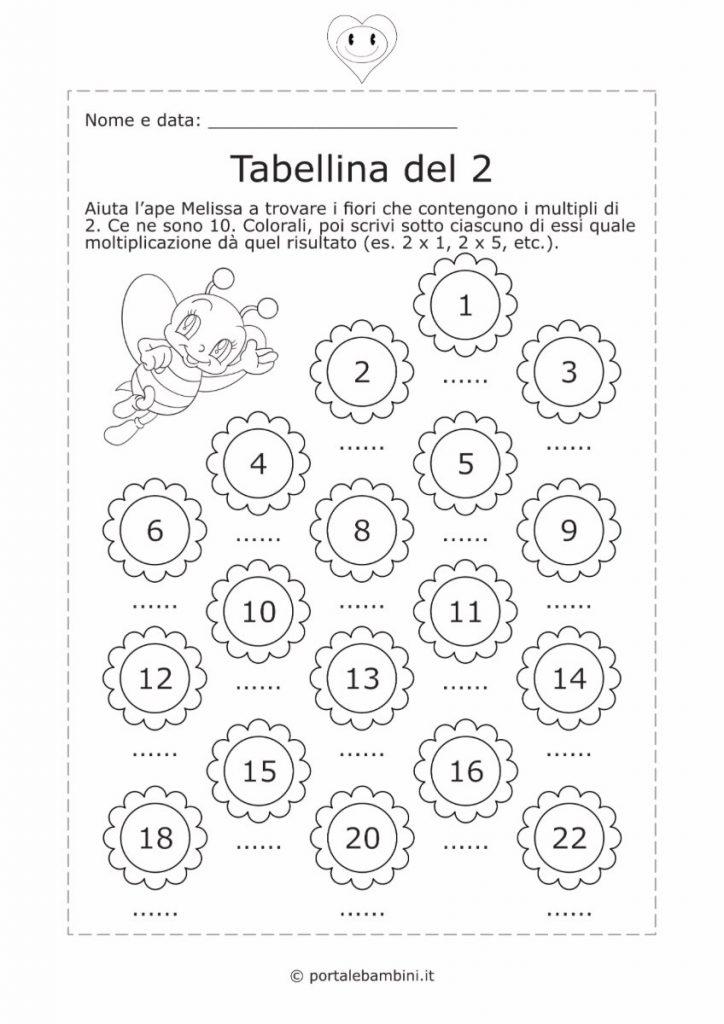 tabellina del 2 schede didattiche esercizi 2