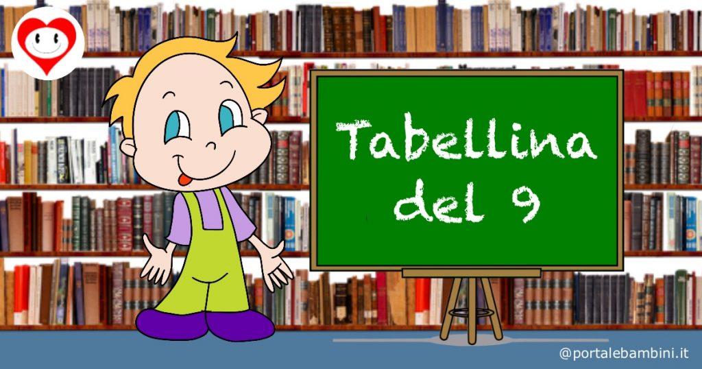 tabelline scuola primaria tabellina del 9