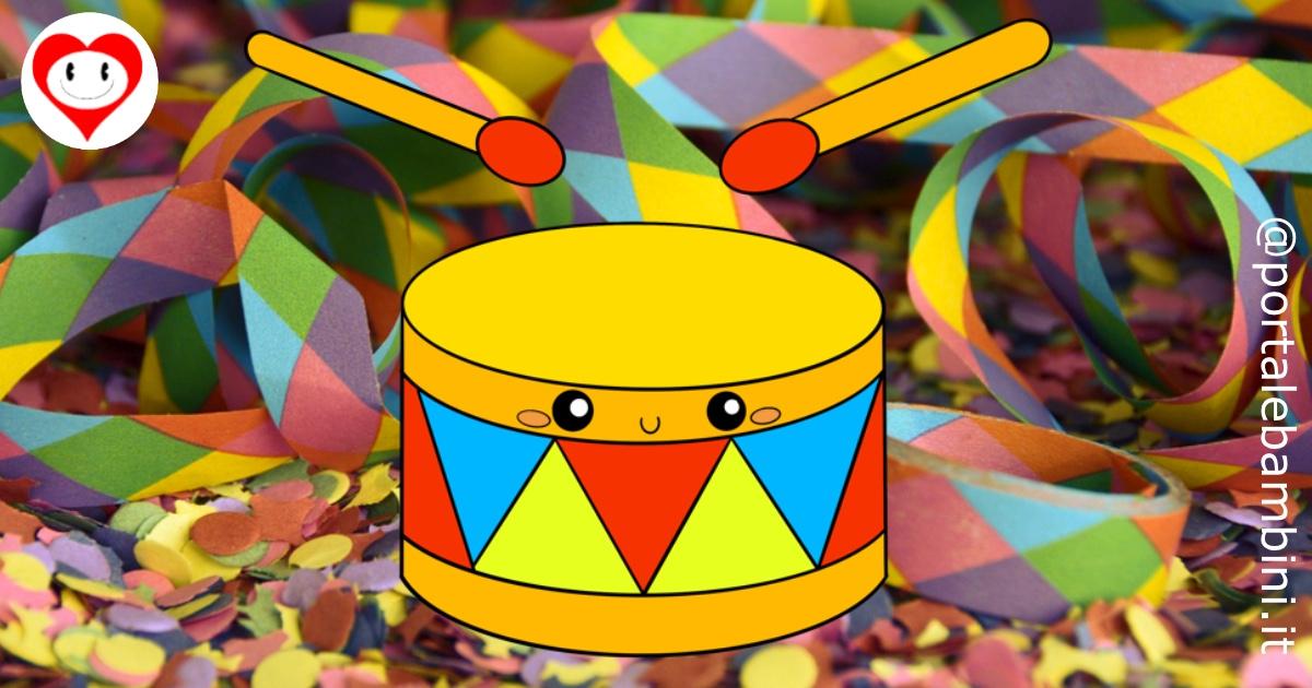tamburo da colorare