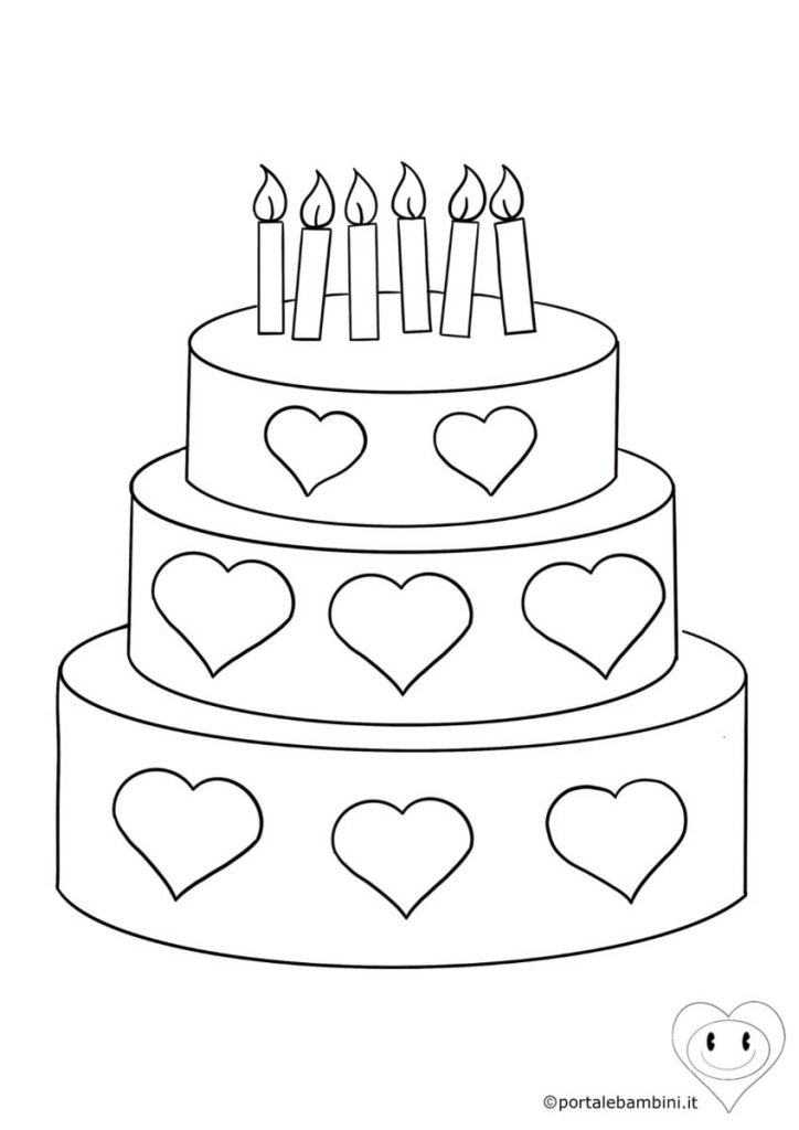 torta da colorare 5