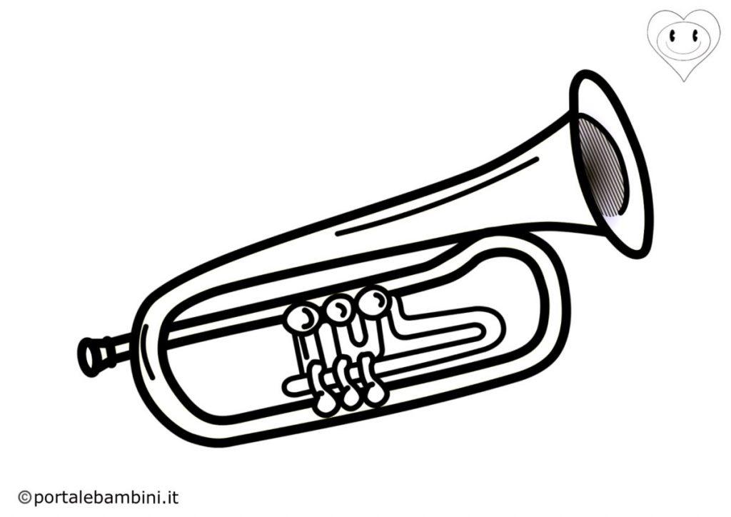 tromba da colorare 2