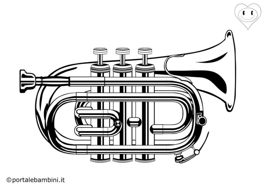 tromba da colorare 3