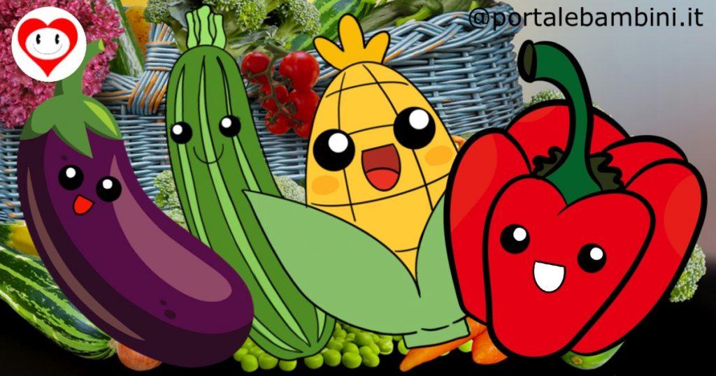 verdura da colorare
