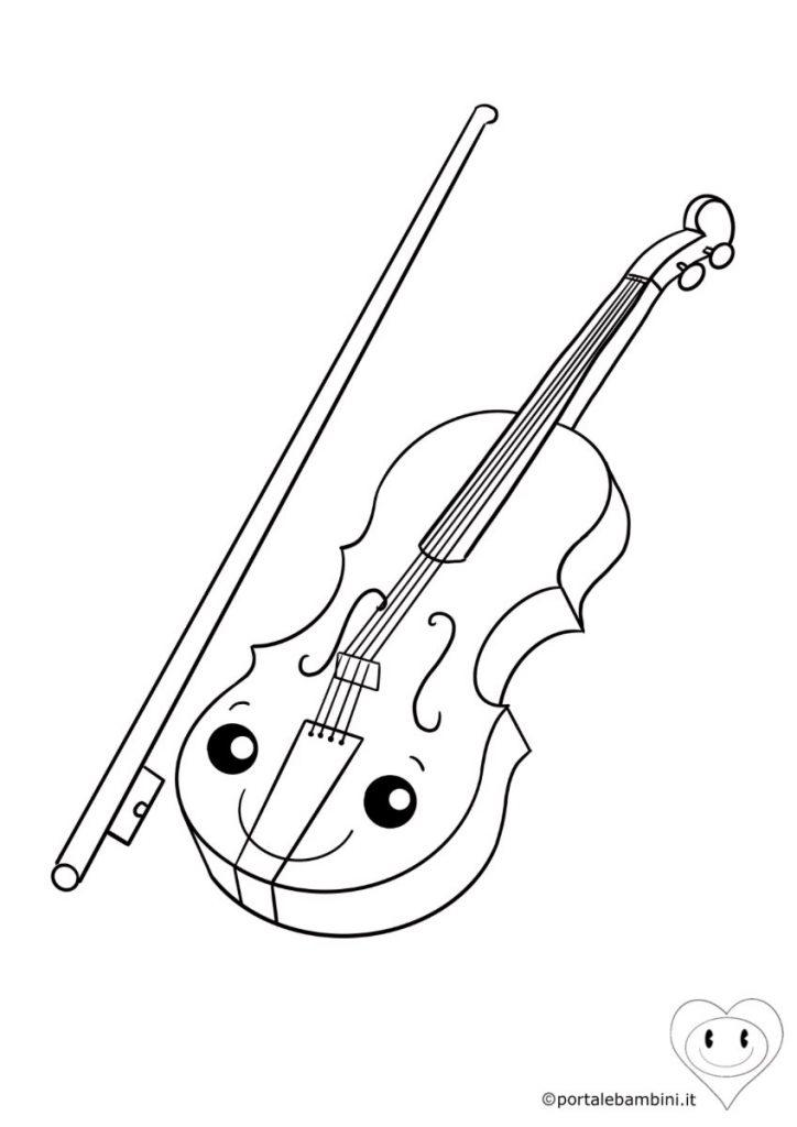 violino da colorare 2