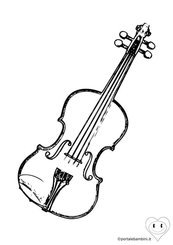 violino da colorare 3