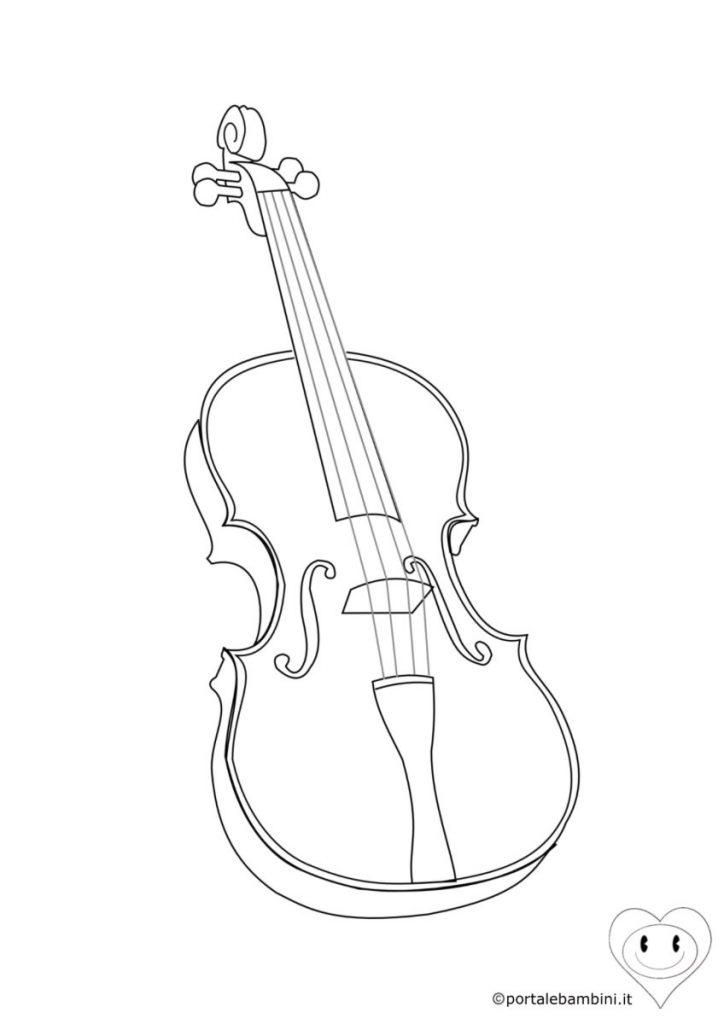 strumenti musicali da colorare violino
