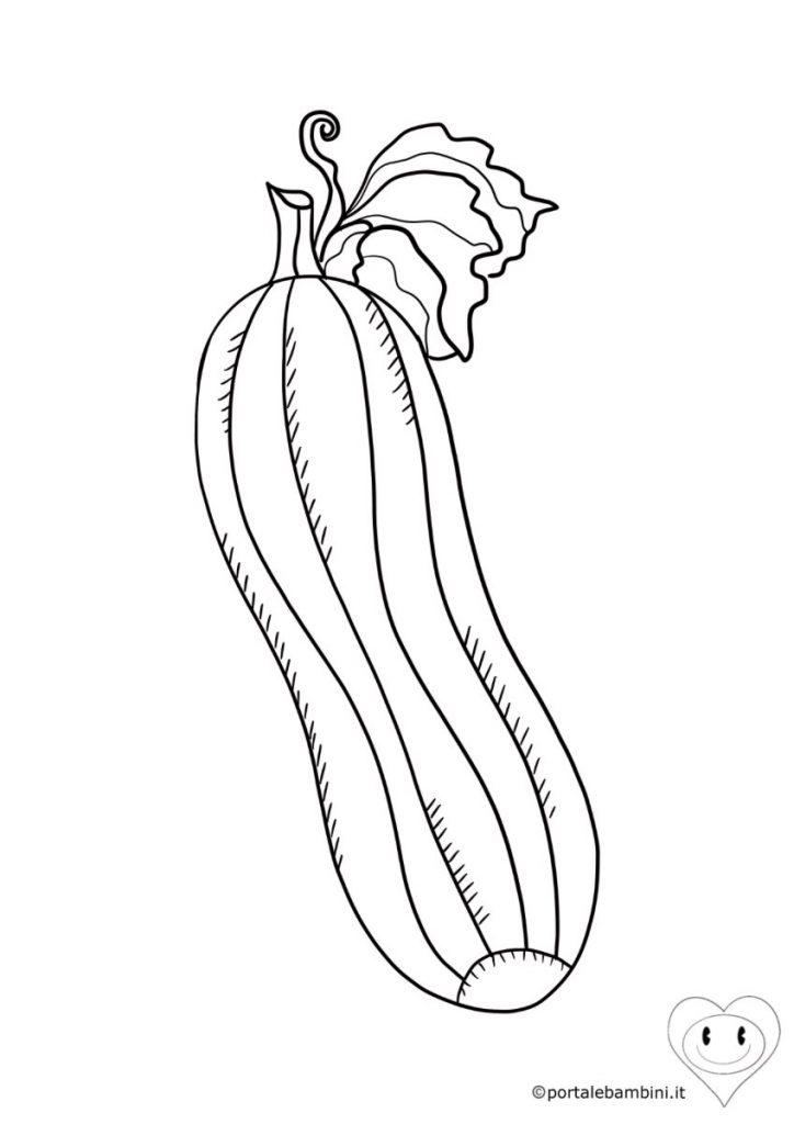 zucchina da colorare 2